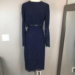ASOS dress size 12 navy lace dress cropped